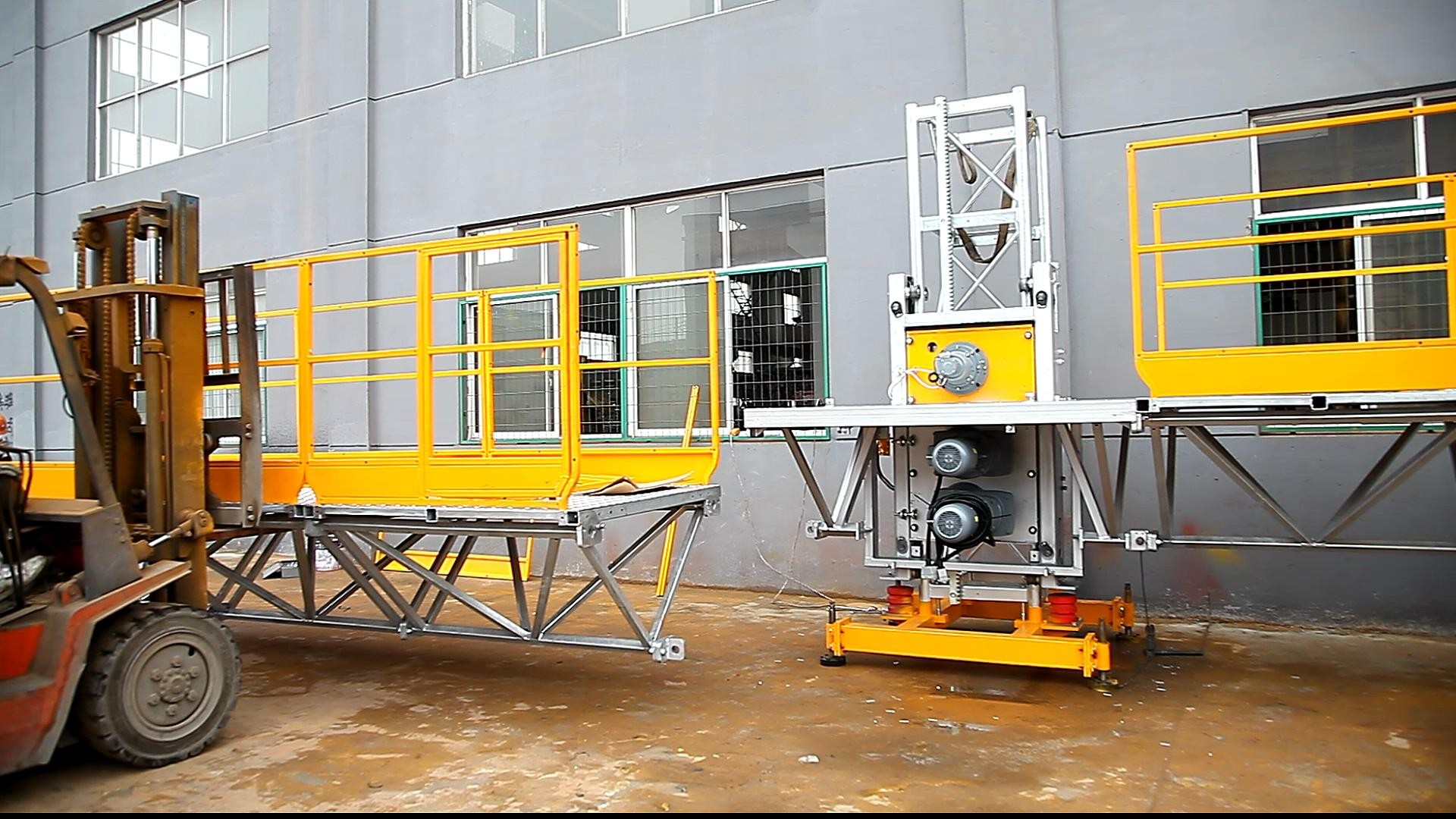 Scan Climber Design Window Cleaning Platform Galvanized Platform And Mast Section
